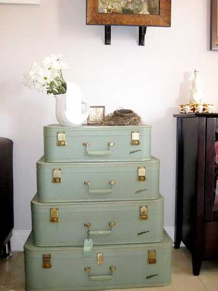 Old Suitcases Upcycled Into Nightstand