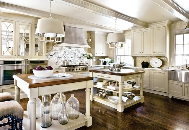 beautiful kitchen with bottles