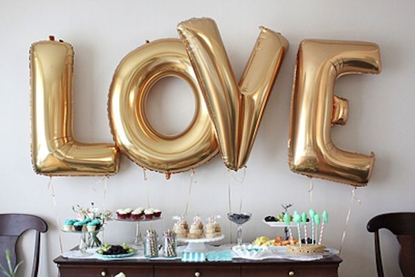 Love Gold Foil Balloon from Confetti and Sparkle Party Shop