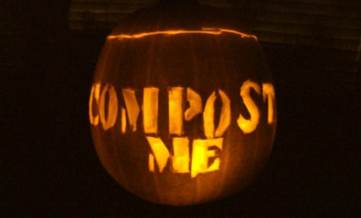 Don't forget to compost your Pumpkins after Halloween