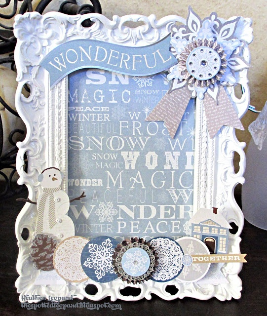 Winter Frame by Heather Leopard  #homedecor #littleyellowbicycle #winter