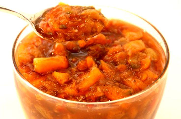 Peach Ginger Chutney With Golden Raisins Recipe Dishmaps
