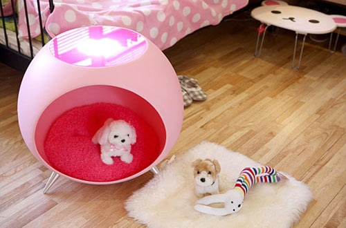 The Pet Ball. It's a bed. It's a table. It's home for your pup.