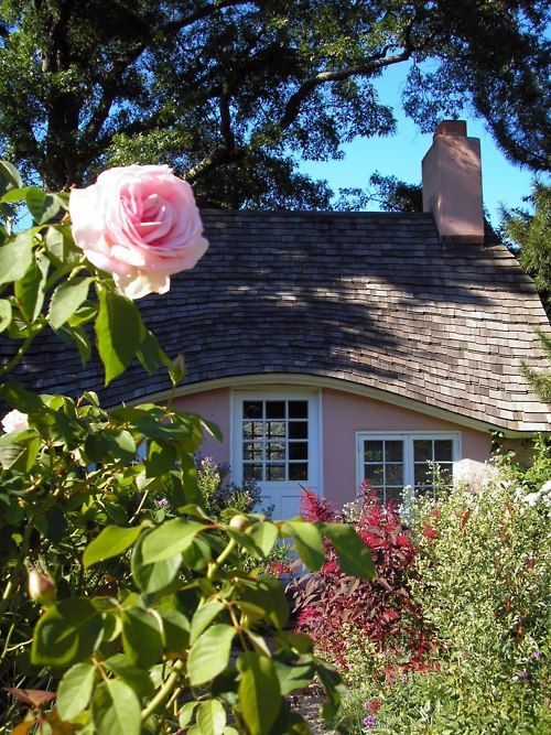 pretty little pink cottage