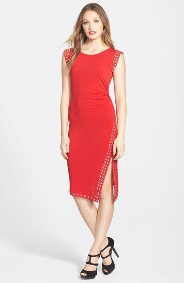 MICHAEL Michael Kors Studded Asymmetric Hem Dress