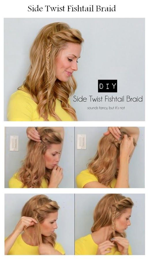 How To Make A Side Twist Fishtail Braid | hairstyles tutorial