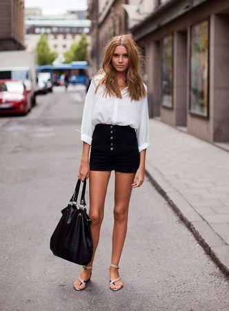 Highwaisted tailored short