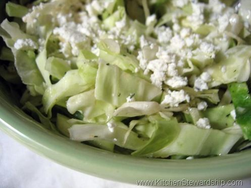 Cabbage Salad With Goat Cheese | Kitchen Stewardship