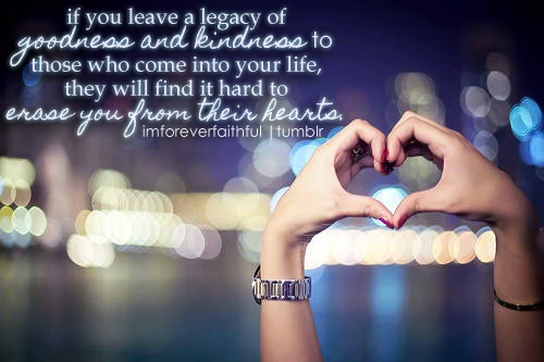 I want to leave a legacy...