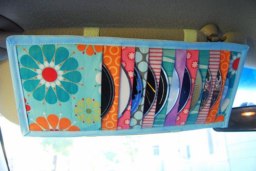 DIY Car visor CD holder - free tutorial