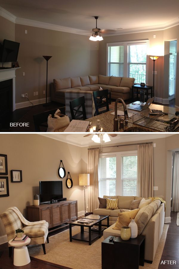 This Amazing Transformation Uses The Existing Furniture To Transform Layout Into Something That Works Via BluLabelBungalow