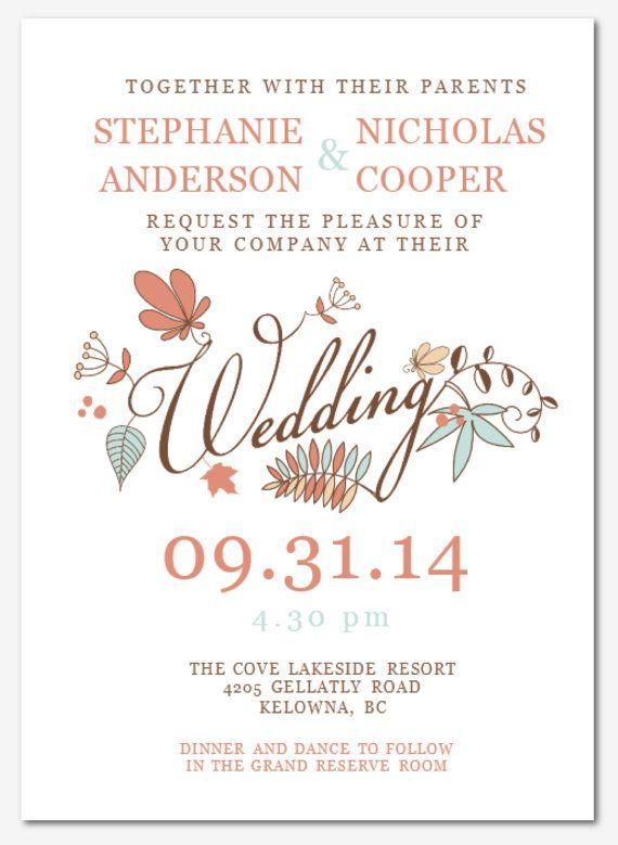 wedding invitation templates for word | paperinvite, Invitation templates