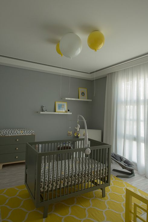 The Brokis Memory Lights create a wonderful focal point for the timeless design of the Oeuf Sparrow Cot.