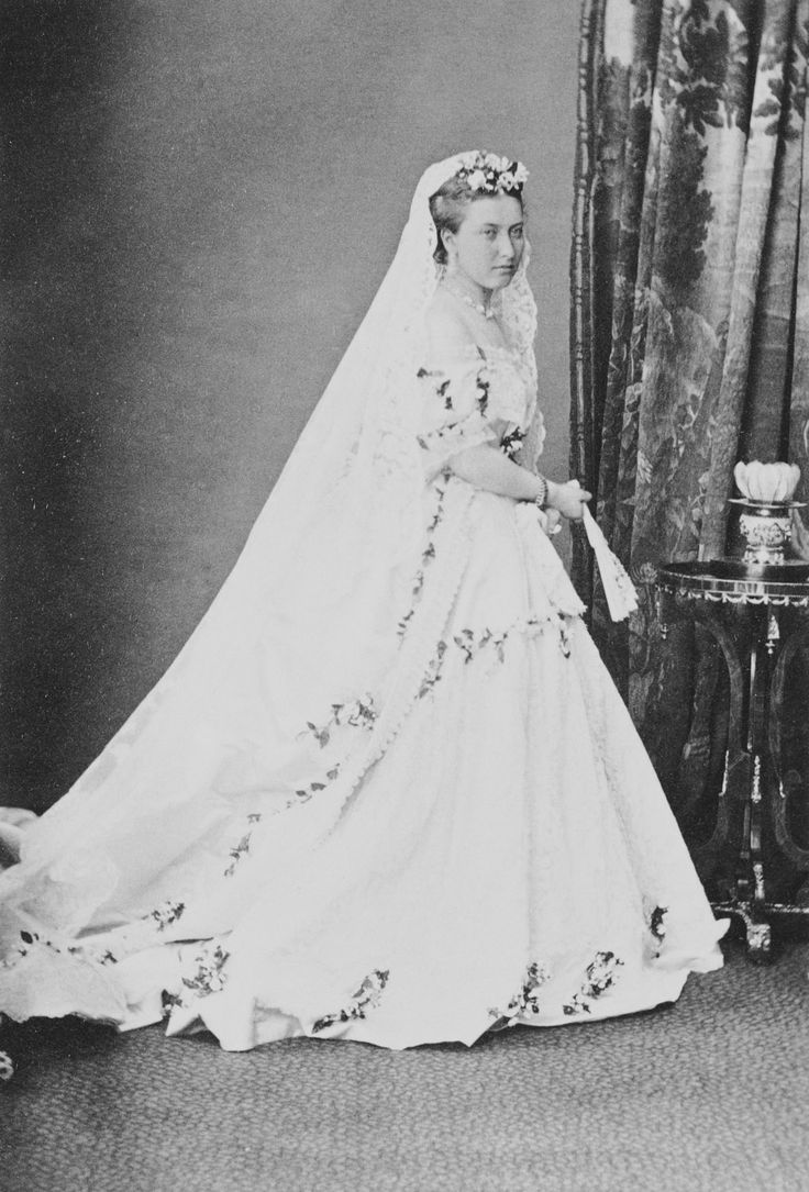 Princess Helena (1846-1923) in her wedding dress | Royal Collection Trust