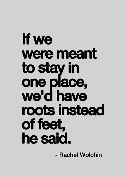Feet Instead Of Roots