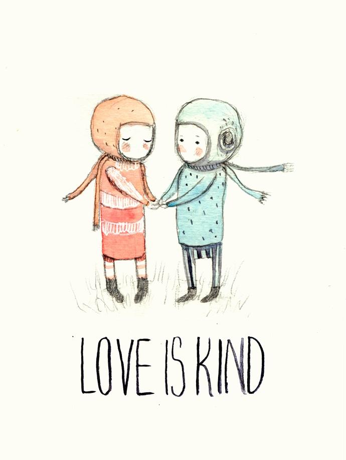 love is kind illustration. Paola Zakimi