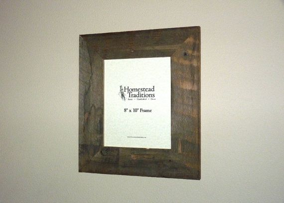 """Barn Wood Picture Frame - 8"""" x 10"""""""