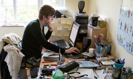 Messy Desk but still working!