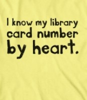 Do you know yours? A t-shirt to proclaim your library love.