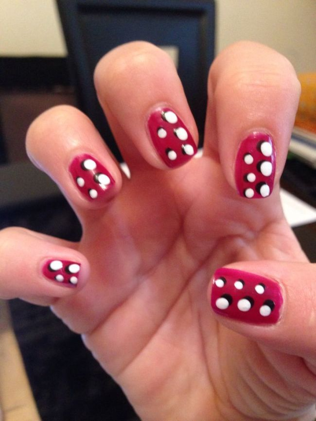 3d Spotty Nails Love Them X Nails By Me And Nail Art Pinterest