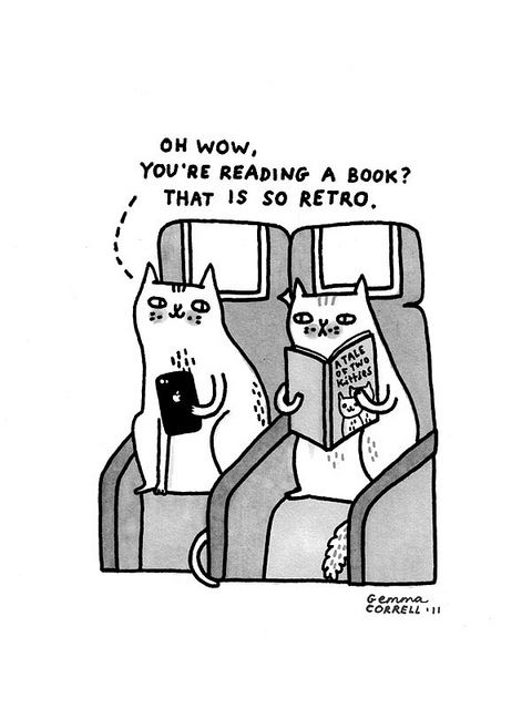 Skycats - Retro #gemmacorrell www.gemmacorrell.com - seriously, I had an old lady ask me why I was reading a real book and not an ebook on my most recent flight.