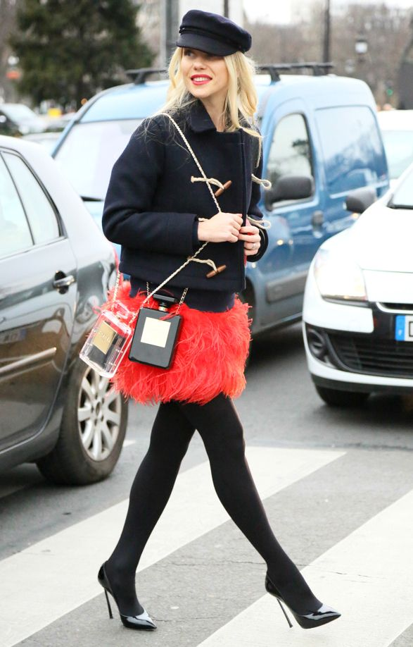 One CHANEL is Not Enough. #Chanel NO.5 Perfume Clutch is #Trending at the Street Style of Spring Summer 2014 Paris Haute Couture #bag