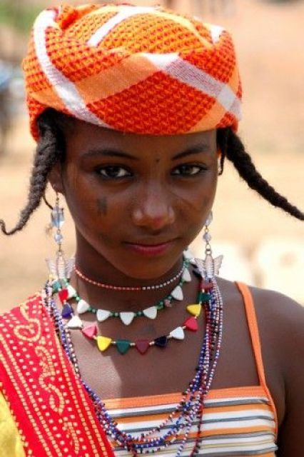 Africa | Fulani girl in Togo | Photographer unknown.