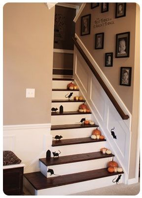 Halloween Mice on the Stairs