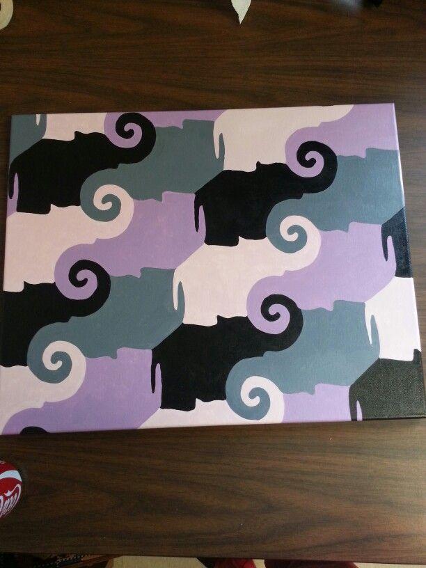 elephant tessellation zentangle tessellation pinterest