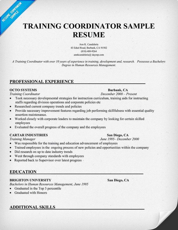 What Cover Letter Resume Cover Letter For Training Coordinator Position  Training Coordinator Cover Letter Sample Dancer