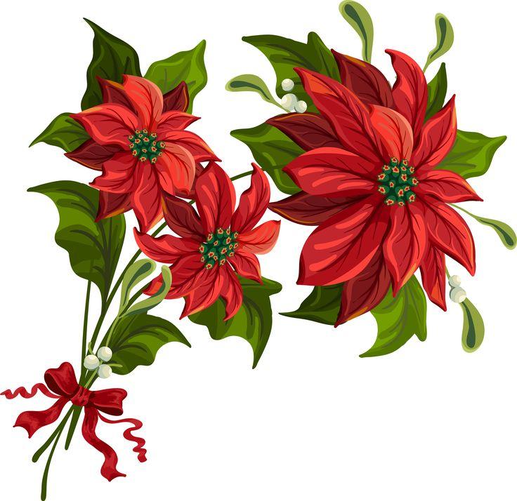 christmas poinsettia clip art large beautiful florals pinterest