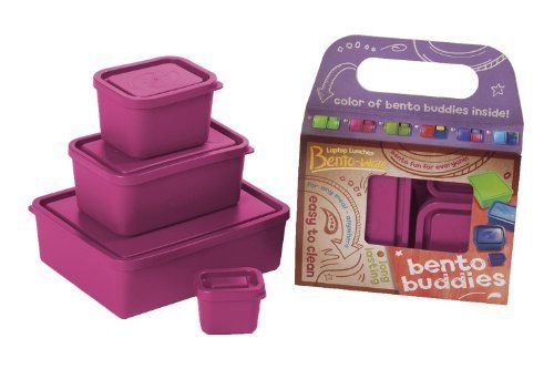 ✔️Laptop Lunches Bento-ware Bento Buddies, 4 BPA-free Lunchbox Containers with Leak-proof Lids, Pink (B650w-pink), http://www.amazon.com/dp/B002VFM7OO/ref=cm_sw_r_pi_awdm_x8CYtb1SAP107