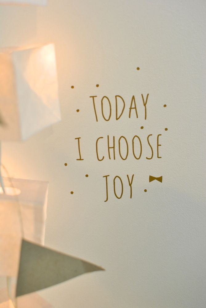 "sticker ""today I choose joy"""