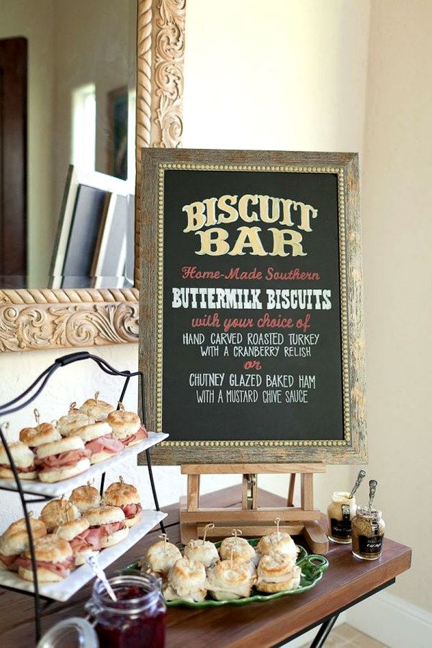Biscuit Bar for your wedding? I say YES! #breakfast #Brunch #recipes #wedding #party