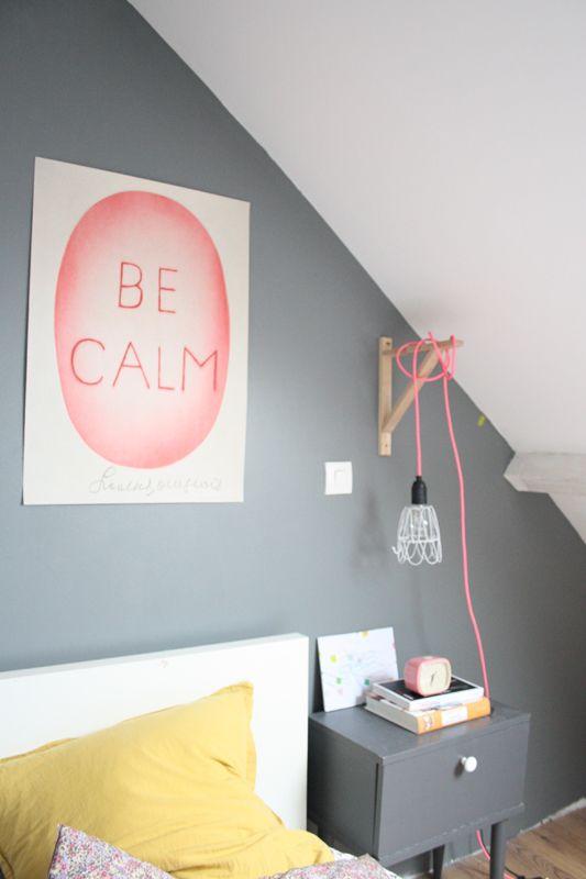 Clever idea: use IKEA's EKBY VALTER shelf bracket to suspend a bedside light   petit sweet