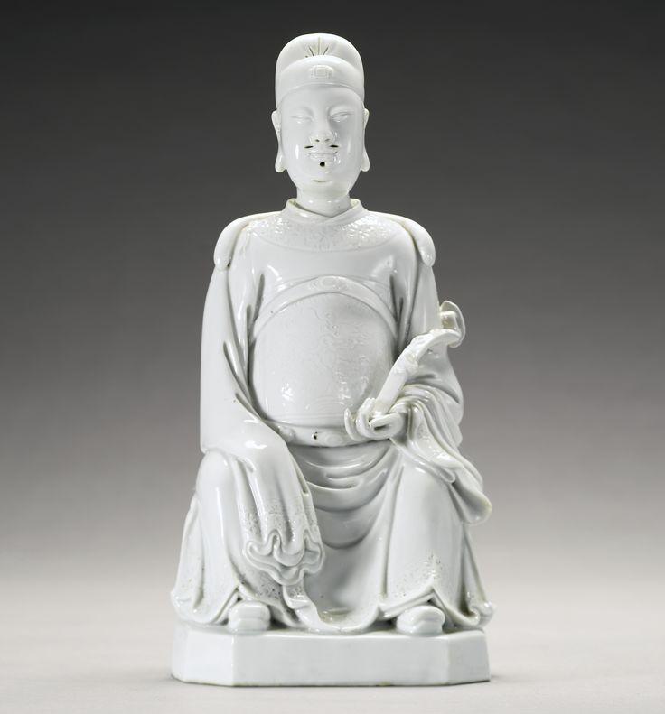 A Dehua figure of Wenchang, Qing dynasty, 18th century