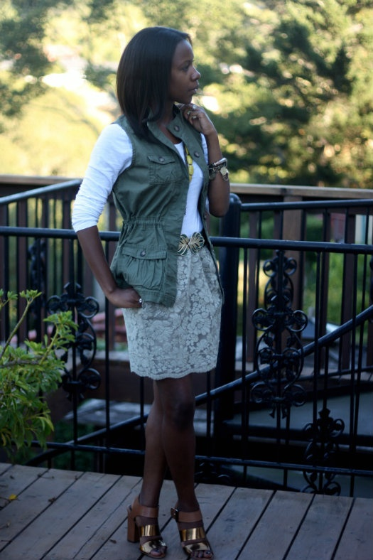 cargo vest and lace