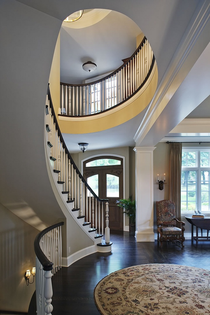 Newel post for front foyer stairs
