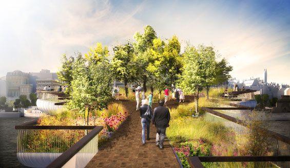 'Garden Bridge' by Thomas Heatherwick « World Landscape Architecture – landscape architecture webzine