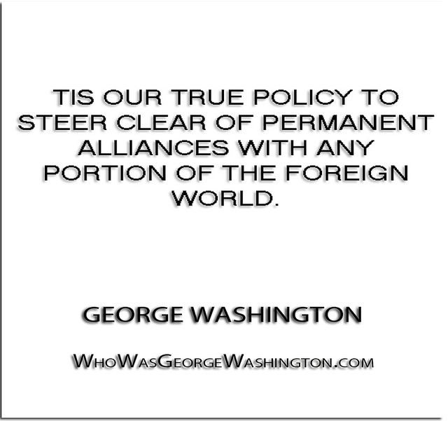 Image result for GEORGE WASHINTON STEER CLEAR OF ALLIANCE