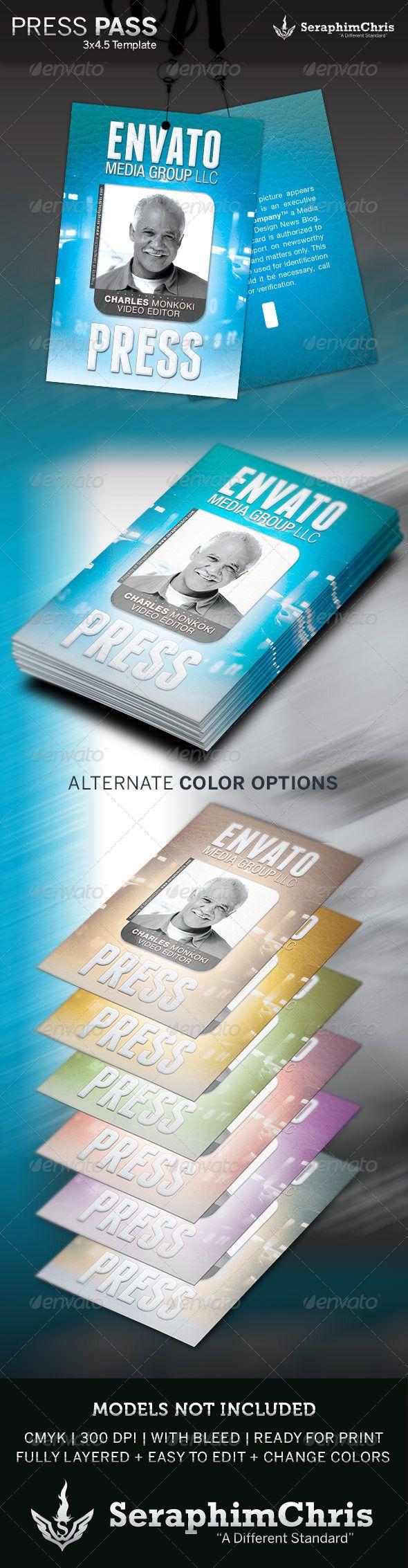 Press Pass Template Press Pass Template Microsoft Word All