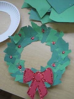 Ripped paper wreath Southern highlands idea