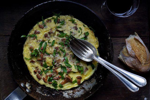 Chanterelle Mushroom Omelette