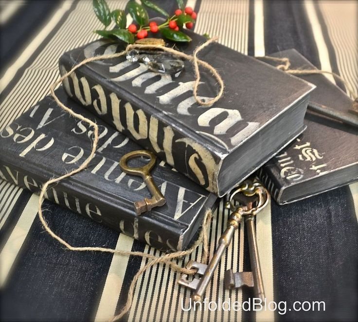 Upcycling Old Hardcover Books Using Chalk Paint® Decorative Paint!