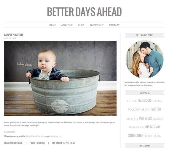 theme photography instant download