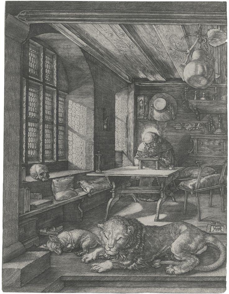 ALBRECHT DÜRER (1471 – 1528), Saint Jerome in his study (B. 60; M., HOLL. 59)