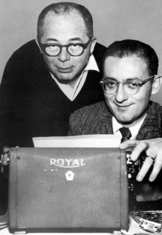 Hollywood Legacy's Pinterest site: BILLY WILDER and frequent screenwriter partner, I.A.L. DIAMOND.