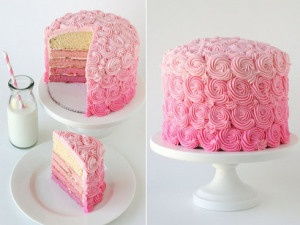 Pink-ombre-cake #ombrewedding #weddingdecor