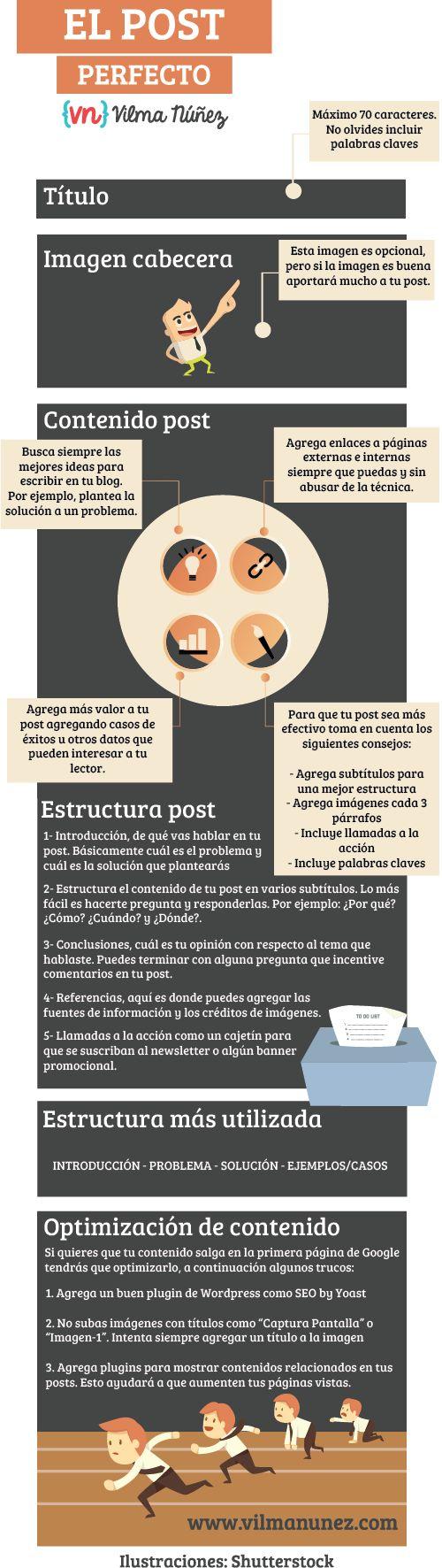 Cómo hacer el post perfecto #infografia