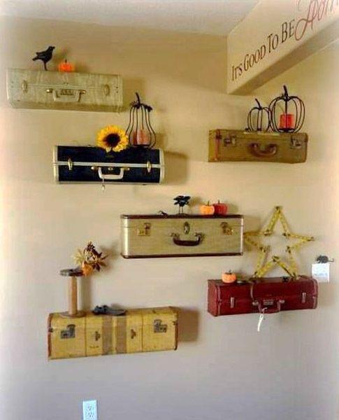 diy vintage home decor ideas | 20 diy vintage suitcase decorating ideas best ... | Decor and Ideas f ...